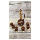 7 Piece Gold Overlay Cordial Set