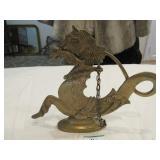 Brass figure of Arabian horse