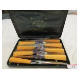 8 vintage Sheffield steak knife w/ box c. 1940
