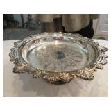 """Pedestal serving tray approx 12"""" Diam"""