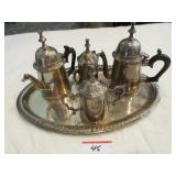 Coffee service with tray (Made India)