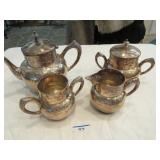 4 pc Silverplate tea service by Florence Plate Co