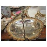 Silverplate oval bread or cake basket