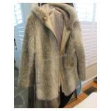 Cheyenne faux fur thigh length vintage jacket