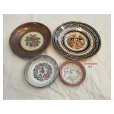 Metal and enamel plates