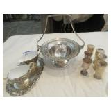 6 Wallace Baroque silverplate cordial glasses,