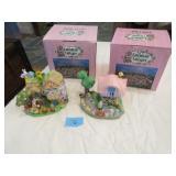 18 Cottontale Cottages ceramic Easter figures