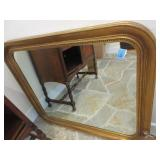 Gilt framed wall mirror, oblong hanging approx