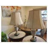 2 Sevres-style Procelain De Paris table lamps in
