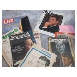 John F Kennedy news reports in magazines