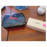 Gem razor (ex cond), vintage Impala playing cards