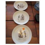 3 Wedgwood Millenium of Tynwald plates