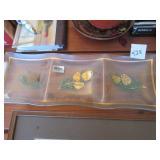 Dorothy C. Thorpe divided glass tray w/ original