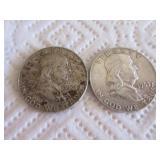 1961 and 1963 Franklin half dollars