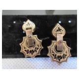 Garnet and 12kt gold filled vintage earrings