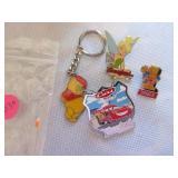 Disney logo pins and keychain