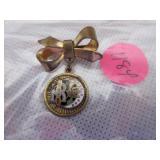 Daughters of Rebekkah brass pin
