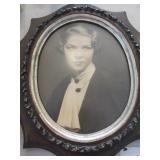 Framed photo portrait of model c. 1945