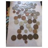 Vintage British coins: 1887 3 Pence silver coin