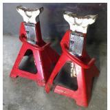 Two Workline 3 Ton Jack Stands