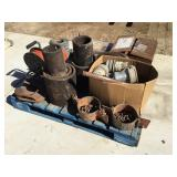 Pallet of Misc Fittings, Skillets, Pipe Lifters,