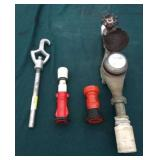 Flow Meter with Hose Nozzles and Hydrant Opener