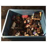 Tub of Collectible Hot Wheels