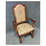 Nice Upholstered Wood Frame Chair