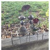 Metal Art Bench Ants