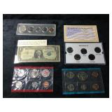 Proof Set of Coins, Platinum Set, Silver