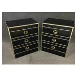 Black & Gold Modern Style Night Stands