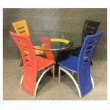 Retro Style Dining Table and Chairs