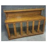 Lighted Display Cabinet with Iron Decor