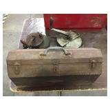 Antique Hand Grinders and Tool Box