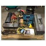 Pallet of Misc Tools and Attachments
