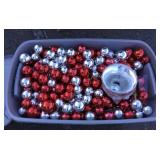 Box of Christmas Balls and Bells