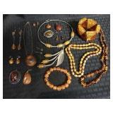 Lot of Amber Jewelry