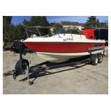 21ft 1980 Boat w/ 1986 2 Axle Boat Trailer