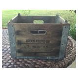 Antique Arden Farms Co. Wooden & Metal Box