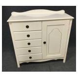 White 5 Drawer Dresser w/ Storage