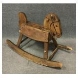 Carved Wood Rocking Horse