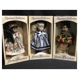 3 Hand Crafted Porcelain Dolls