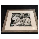 Ted Williams Autographed Photo with Roger Maris