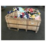 Crate of Misc. Sewing Fabrics