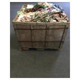 Crate of Misc. Sewing Fabric