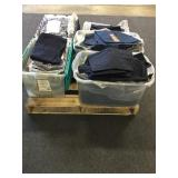 Pallet of Misc. Cover-Alls, Pants, and Shirts
