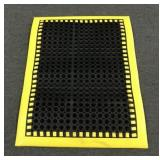 Black & Yellow Rubber Commercial  Mat