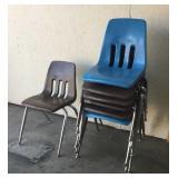 7 Plastic Child School Chairs