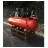 Large Red Air Compressor