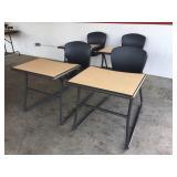 4 Adult Sled Desks (Black)